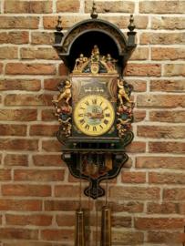 Vintage Hand Painted Orfac Frisian wall clock (Stoelklok) Larg size