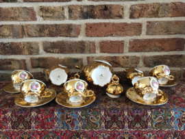 Vintage Bavaria  Coffee Set gold plated and hand made (5 persons)