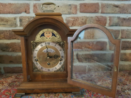 Very Rare Dutch Warmink Table clock with moon phase, Westminster Chime