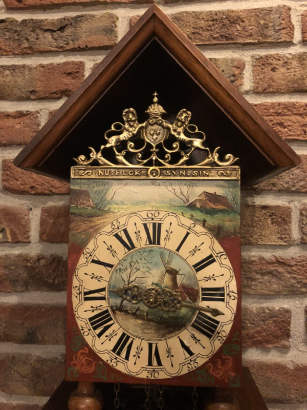 Beautiful Hand Painted Warmink Wall Clock (Twentse Clock) from 1966