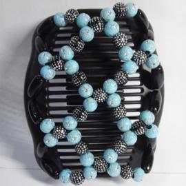 african hairclip 20 licht blauw