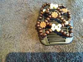 african hairclip bl brown  ivory 42