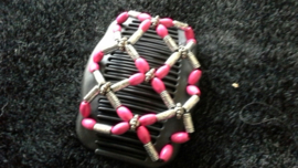 african hairclip 23 pink fuchia