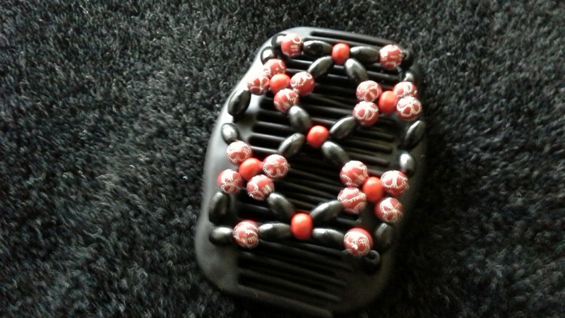 african hairclip 26 rood