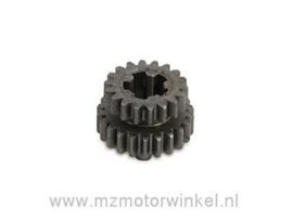Schakeltandwiel 2. en 4.versnelling (18 tanden) TS125,TS150
