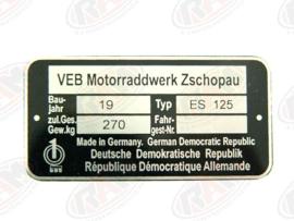Type plaatje ES125
