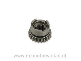 schakeltandwiel 1e en 2e versnelling (22 tanden) ETZ 125-150)