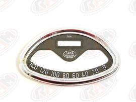 chromen ring voor kilometerteller jawa 360 140 km