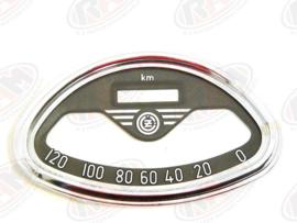 chromen ring voor kilometerteller cz 120 km