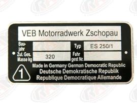 Type plaatje ES 250/1