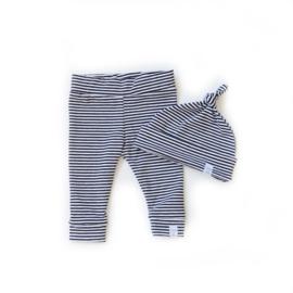 Newborn set - Zwart met Witte Strepen