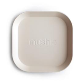 MUSHIE | PLATES Square -  IVORY (2 stuks)