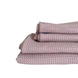Wieg-/ ledikantdeken - Wafelkatoen Old pink