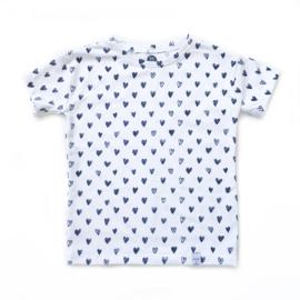 Shirt - Hartjes zwart wit
