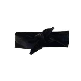 Haarband Breed - Velvet zwart