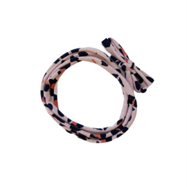 Strikbandjes - Luipaard pink