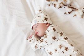 Newborn Mutsje los - Flower brown