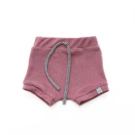 Korte broek - badstof roze