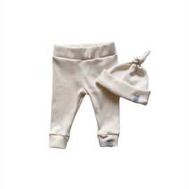 Newborn set - Smal rib off withe