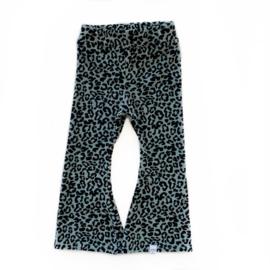 Flared - Velvet leopard khaki