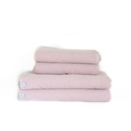 Wieg-/ledikantdeken wafelstof fijn Old Pink