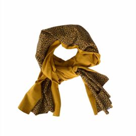 Sjaal - Leopard  oker