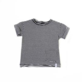 Shirt - Zwart wit streepjes