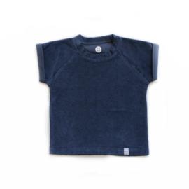 Shirt - Badstof blauw