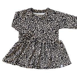Jurkje - Leopard Sand velvet