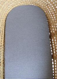 Kinderwagenhoes - Zwart met Witte Strepen