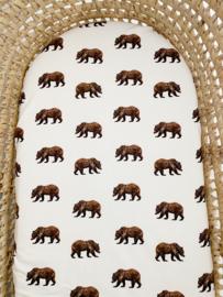 Matrashoes Mozes verschoonmandje - Bear brown