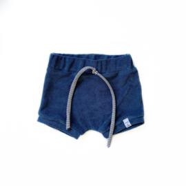 Korte broek - badstof blauw