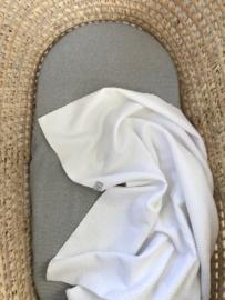 Wieg-/ledikantdeken wafelstof fijn Wit