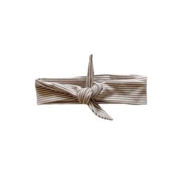 Haarband Breed - Streep dark beige