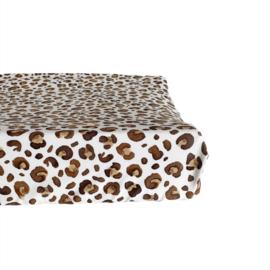 Aankleedkussenhoes - Leopard brown
