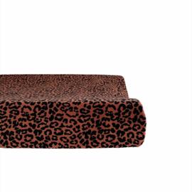 Aankleedkussenhoes - Velvet leopard terra