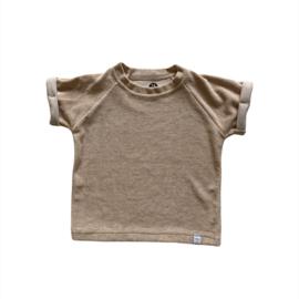 shirt - Badstof zand