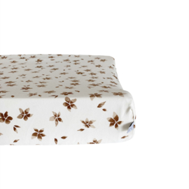 Aankleedkussenhoes - Flower brown