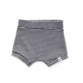 Korte broek - Zwart wit streepjes