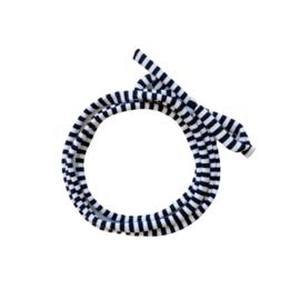 Strikbandjes - Zwart wit streepjes