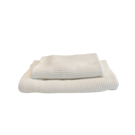 Wieg-/ledikantdeken Off white , gebreid