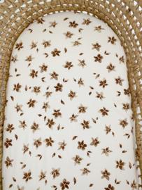 Matrashoes Mozes verschoonmandje - Flowers brown
