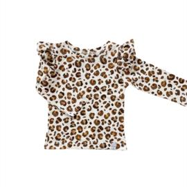 Longsleeve - RUFFLE Leopard Brown