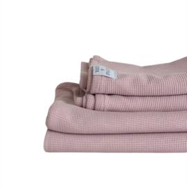 Wieg-/ ledikantdeken - Gebreide Wafelkatoen Old pink