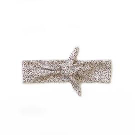 Haarband Breed - bruin mini dots