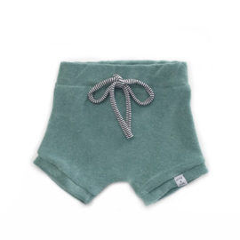 Korte broek - Badstof groen