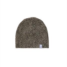 Beanie - Leopard sand