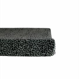 Aankleedkussenhoes - Velvet leopard khaki