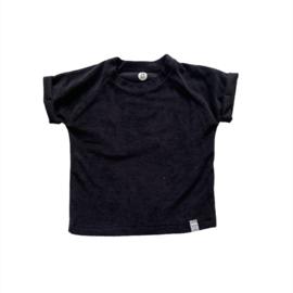 Shirt - Badstof zwart