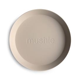 MUSHIE | PLATES Round - VANILLA (2 stuks)